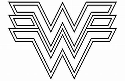 Wonder Woman Coloring Printable Symbol Superhero Coloringfile