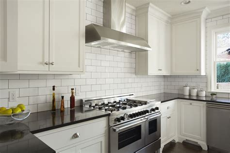 white kitchen with white subway tile how subway tile can effectively work in modern rooms 2107