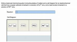 Solved  Write A Balanced Chemical Equation  Including Stat