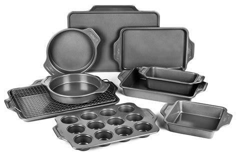 clad pro release nonstick bakeware set  piece cutlery