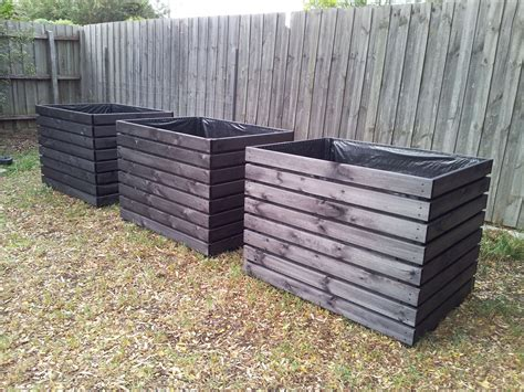 large planter box large planter boxes stained in black made to