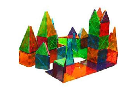 Valtech Magna Tiles Clear Colours 100 Pack by Magna Tiles Clear 100 Pc Value Pack West Side