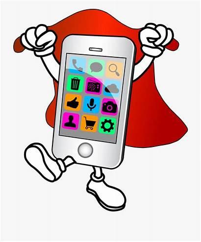 Clipart Phone Cartoon Mobile Cell Clip Repair