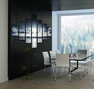 Tableau Deco Noir Et Blanc : tableau paysage heaven ~ Melissatoandfro.com Idées de Décoration