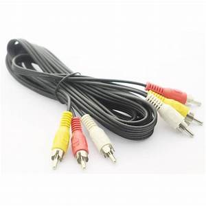3 Rca    Cinch Male Male Audio Video Cable