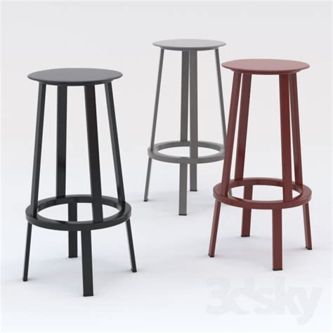 furniture bar stools 3d models chair revolver wh swivel bar stool h 75 cm