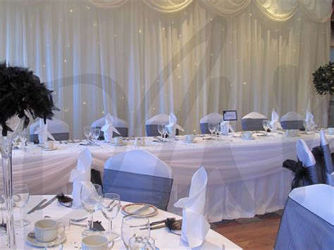 black white wedding decor hire so lets party