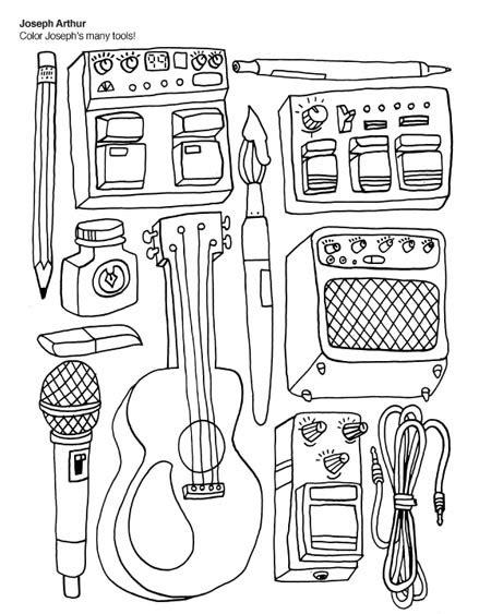 The Indie Rock Coloring Book | Sedef Aydogan's Blog