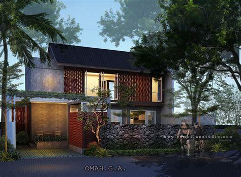 ars desain rumah tinggal tropis tanggap cuaca ala villa