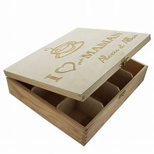 Boîte à thé 12 compartiments personnalisée : une idée de cadeau original Amikado