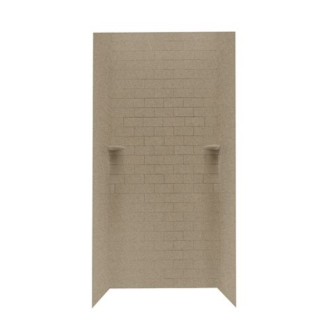 shop swanstone barley solid surface shower wall surround