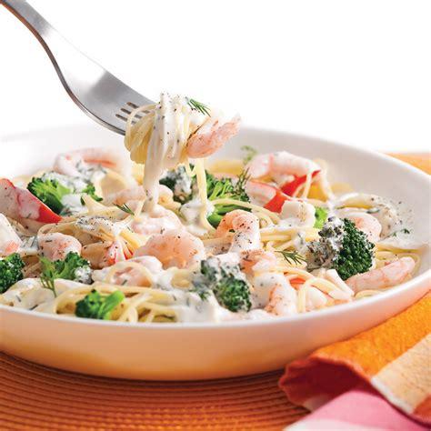 cuisine nordique recettes capellinis aux crevettes nordiques goberge et brocoli