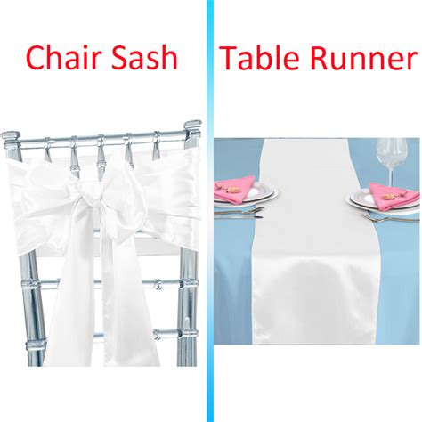 satin sashes chair cover bow satin table runner wedding