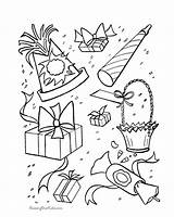 Coloring Birthday Party Pages Sheets Presents Decorations Printable Print Boy Favors Activity Supplies Holiday Gifts Present Toys Coloringhome Help Popular sketch template