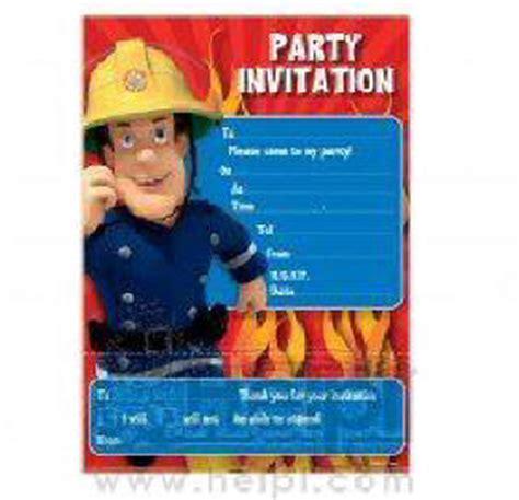 feuerwehrmann sam einladungskarten feuerwehrmann sam geschirr partyartikel