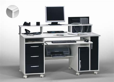 discount bureau bureau informatique contemporain blanc noir andria