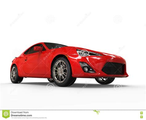 Generic Red Sports Car  Low Angle Shot Stock Illustration