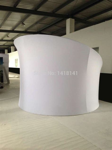 exhibition booth semi circle shape portable tension fabric