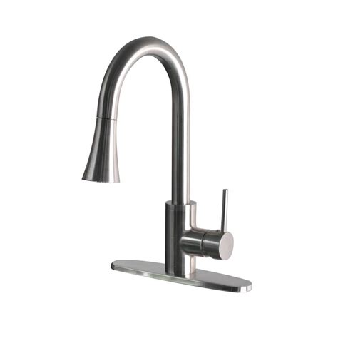 modern kitchen faucets stainless steel foret modern single handle pull sprayer kitchen
