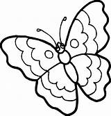 Butterfly Coloring Simple Pages Clipart Easy Colouring Butterflies Sheets Drawing Clip Clipartbest Printable Flowers Flower Children Pattern Painting Kindergarten sketch template