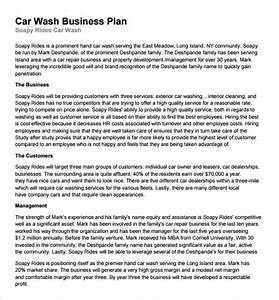 car wash business plan template 11 free documents in pdf With car wash business proposal letter