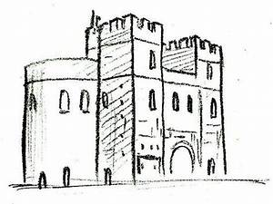 Draw a Medieval Castle | Medieval castle, To draw and Pictures