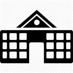 Icon Building Institution Campus Academy Clipart Icons