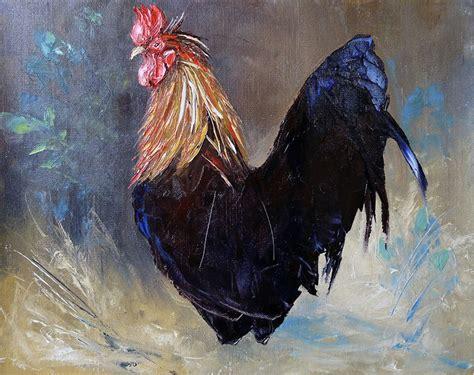 dessin et peinture vid 233 o 1425 comment peindre des coqs 224 la peinture 224 l huile et au
