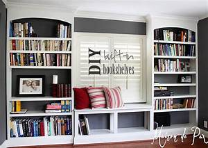 Diy, Built-in, Bookshelves