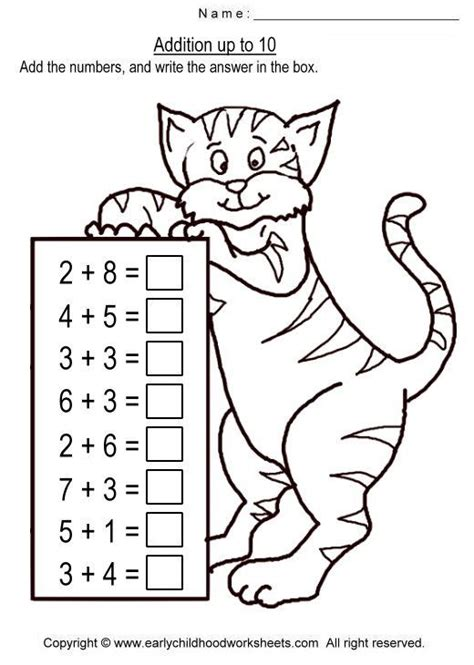 addition within 10 worksheets free pictures addition
