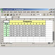 Ms Excel Twodimensional Lookup (example #4