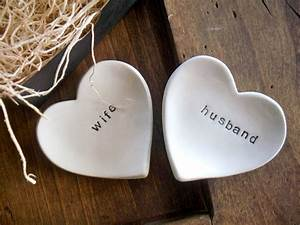 Ring dish wedding ring holder husband and wife engagement for Husband and wife wedding rings