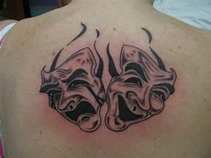 Theatre Masks Tattoo Picture
