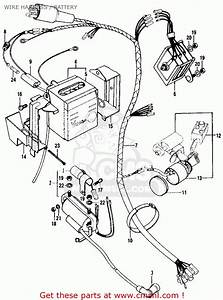 Honda Ct90 Trail 1970 K2 Usa Wire Harness    Battery