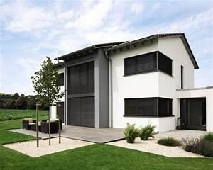 Moderne Häuser Mit Satteldach : h user und fassaden mit betonfassade ideen f r die haus fassadengestaltung houzz ~ Eleganceandgraceweddings.com Haus und Dekorationen