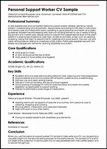 personal support worker cv sample myperfectcv With sample resume for personal care worker