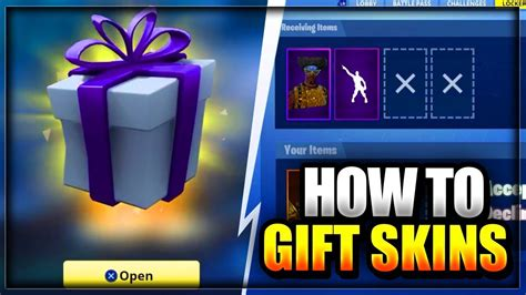 gift  items skins  fortnite battle royale