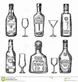 Bottle Drawing Bottles Tequila Hand Vector Alcohol Sketch Hard Different Draw Drawn Cider Beer Illustrazione Yahoo Chalkboard Wine Flessen Uitstekende sketch template