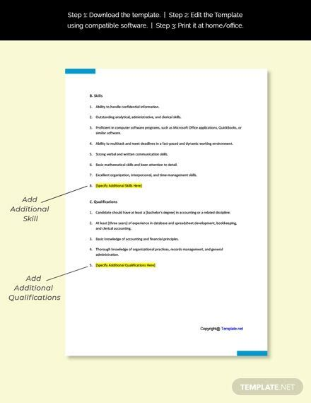 Focus on what the job needs FREE Accounting Administrative Assistant Job Ad/Description Template - Word | Google Doc | Apple ...