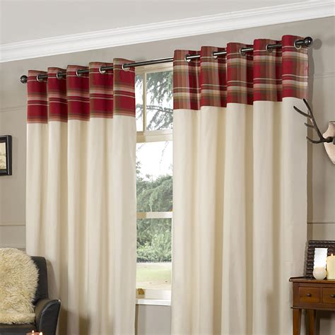 lesley check curtains