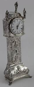 Dutch Silver  Second Standard Miniature Grandfather Clock