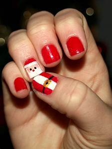 17 Best ideas about Santa Hat Nails on Pinterest | Santa ...