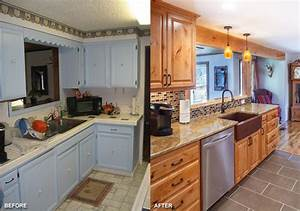 19 pictures before and after modern galley kitchen 640