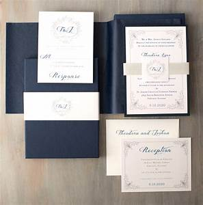elegant navy boxed wedding invitations luxury black tie navy With navy wedding invitations ireland