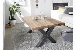 Table Basse Bois Massif Style Industriel Cbc Meubles