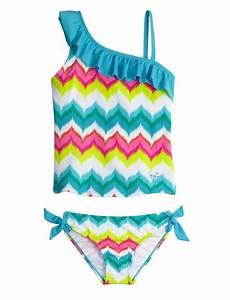 Girls Clothing   Tankinis   Zig Zag Stripe Tankini ...