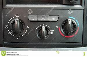 Manual Car Air Conditioner Stock Photo  Image Of Wind