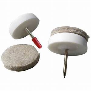 Shepherd 1 1 8 in nail on furniture glides with felt pads for Furniture leg pads home depot
