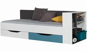 Vente lit enfant 90x200 moderne avec deux tiroirs de for Chambre ado garçon avec matelas pour lit relaxation