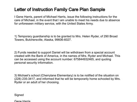 military family care plan discharge